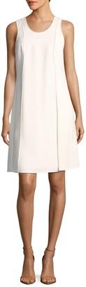 Narciso Rodriguez Seam-Front Wool Shift Dress