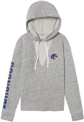 PINK Boise State University Choker Neck Pullover Hoodie