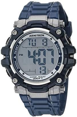 Armitron Sport Men's 40/8427NVY Digital Chronograph Resin Strap Watch