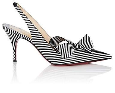 Christian Louboutin Women's Clare Nodo Slingback Pumps - Black-White
