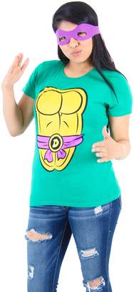 Mighty Fine TMNT Teenage Mutant Ninja Turtles Donatello Costume Green Juniors T-shirt Tee (Juniors XX-Large)