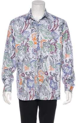 Etro Abstract Print Dress Shirt