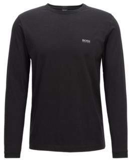 BOSS Hugo Long-sleeved cotton T-shirt shoulder logo L Black