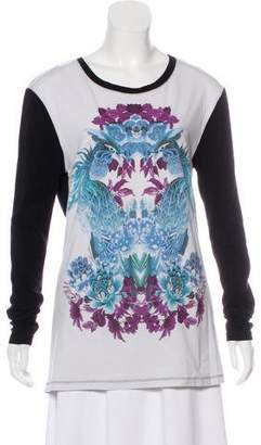 Just Cavalli Long Sleeve Graphic T-Shirt