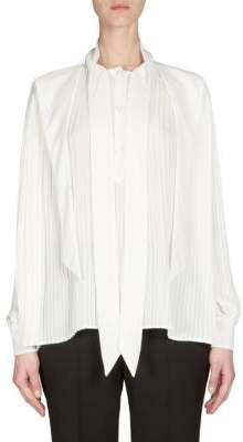 Balenciaga Pleated Button-Front Blouse