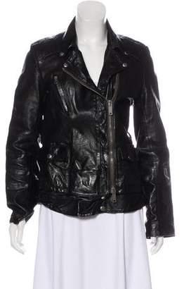 Golden Goose Zip-Up Sheep Leather Jacket