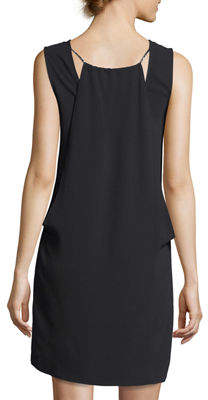 Laundry by Shelli Segal Sleeveless V-Neck Crepe Shift Dress