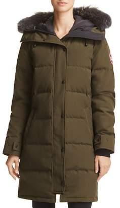 Canada Goose Shelburne Gray Fur-Trim Parka Down Coat - 100% Exclusive