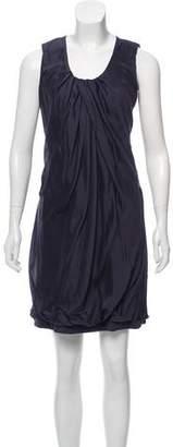 Brunello Cucinelli Silk Scoop Neck Dress