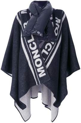 Moncler branded poncho
