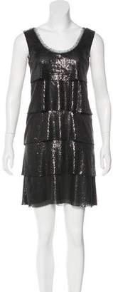 Philosophy di Alberta Ferretti Tiered Sequined Dress