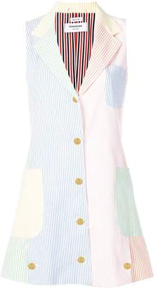 Thom Browne Fun-Mix Seersucker Deconstructed Dress
