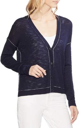 Vince Camuto Contrast Piping Cardigan