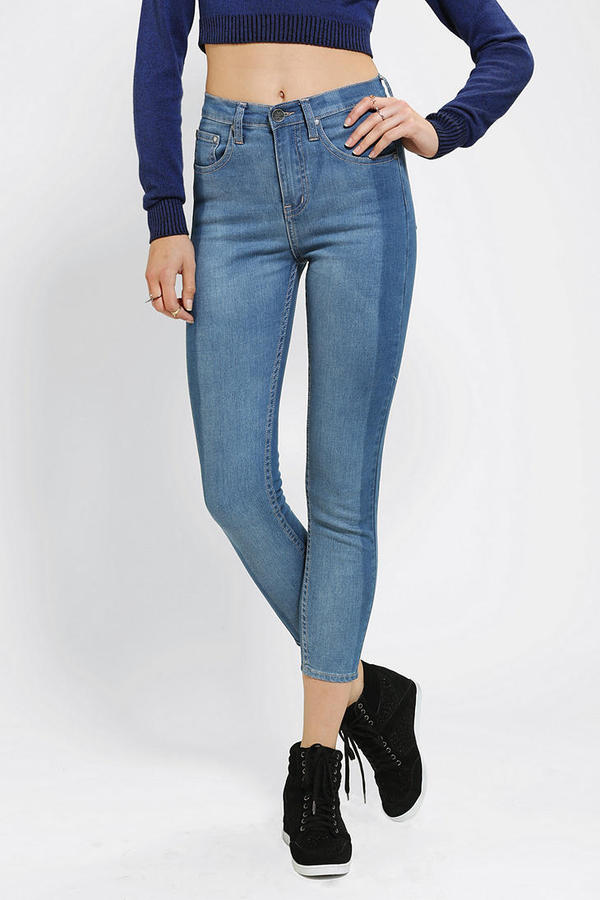Urban Outfitters Neon Blonde Rib Warmers Skinny Jean