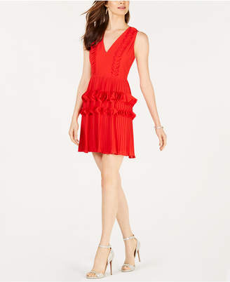 Foxiedox Pleated Applique Dress