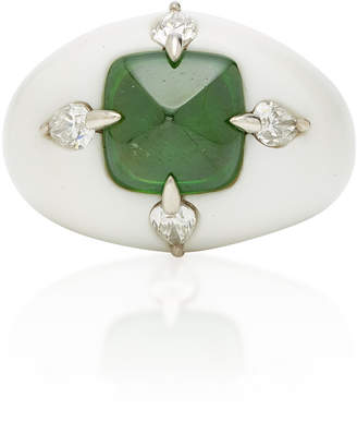 Arunashi One-Of-A-Kind Demantoid In Corian Ring