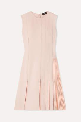 Theory Pleated Crepe Mini Dress - Neutral