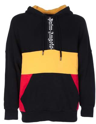 Palm Angels Color-block Hooded Sweatshirt