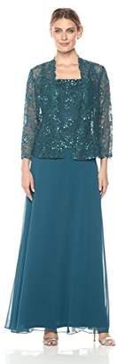 Emma Street Women's Two Piece Lace Jacket Dress