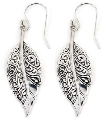 Samuel B Jewelry Sterling Silver Ornate Leaf Drop Earrings $51 thestylecure.com