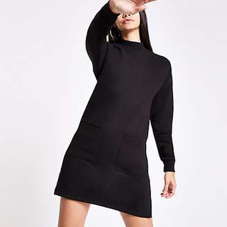 River Island Black patch pocket jumper dress