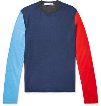 Comme des Garcons Colour-Block Wool-Blend Sweater
