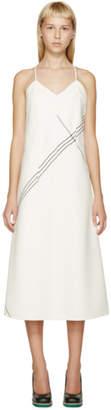 Jil Sander Ivory Wool Striped Vernice Dress