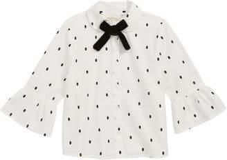 Peek Tracee Polka Dot Button Front Shirt