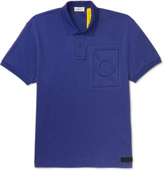 Craig Green Moncler Genius - 5 Moncler Logo-Embossed Cotton-Pique Polo Shirt - Men - Blue