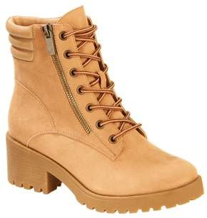 Scoop Fallon Microsuede Lug Sole Lace-up Boot