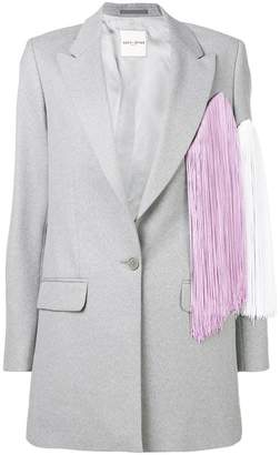 Each X Other fringed colourblock jacket