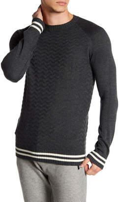 Parke & Ronen Raglan Textured Knit Sweater