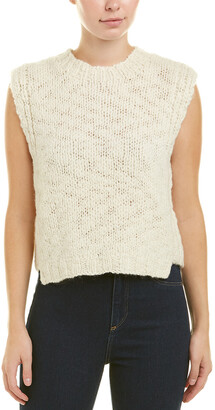 Derek Lam 10 Crosby Cropped Wool Vest