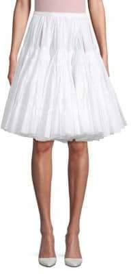 Flared Cotton Knee-Length Skirt
