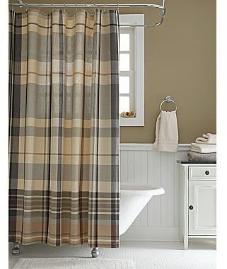 Linden Street Meridian Plaid Shower Curtain