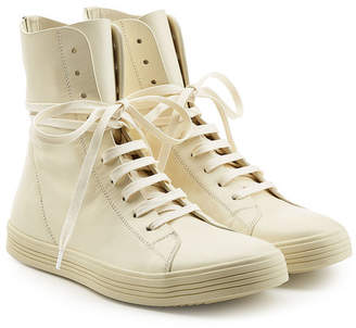 Rick Owens Leather Ankle Boot Sneakers
