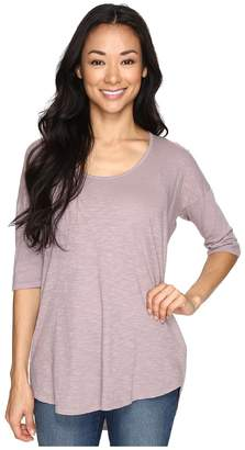 Allen Allen Slub Elbow Sleeve Tee Women's T Shirt