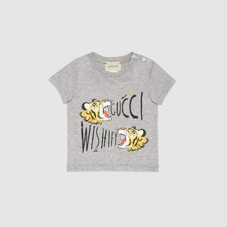 Gucci Baby T-shirt with tiger print