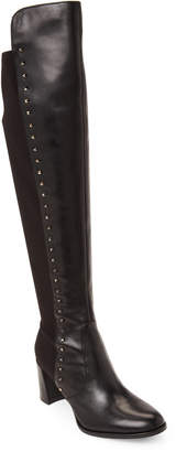 Marc Fisher Black Lapture Studded Over-the-Knee Boots