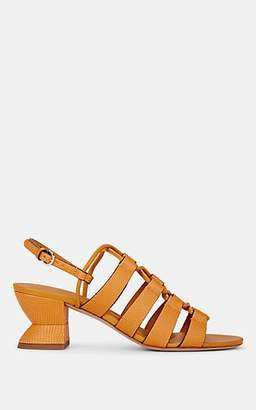Salvatore Ferragamo Women's Sirmio Snakeskin-Stamped Leather Sandals - Yellow