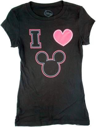 Disney Womens I Love Mickey Mouse T Shirt