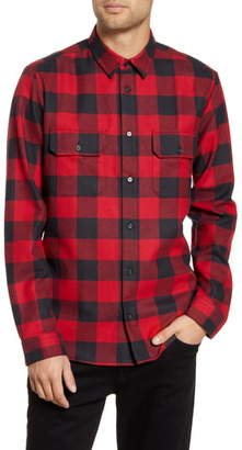 HUGO Enver Relaxed Fit Flannel Button-Up Shirt