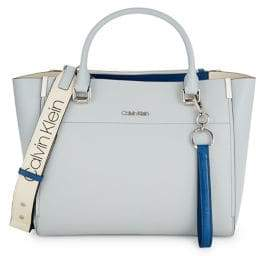 Calvin Klein Convertible Leather Tote