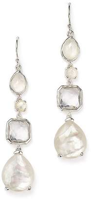 Ippolita Sterling Silver Rock Candy® Clear Quartz and Mother-of-Pearl Drop Earrings