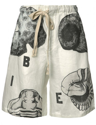Loewe shell print shorts $950 thestylecure.com
