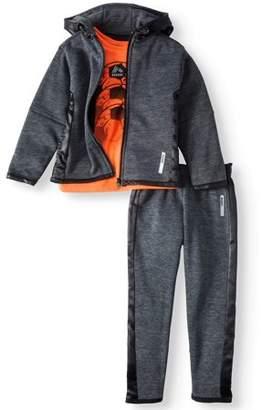 RBX Fleece Zip-up Hoodie, T-shirt & Skinny Pants, 3pc Active Set