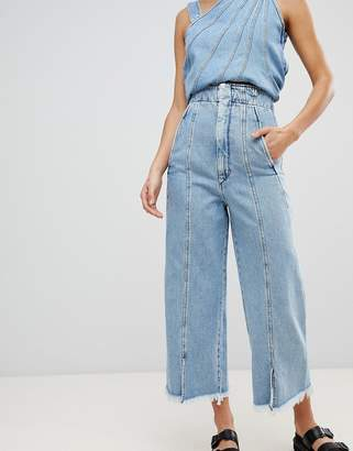 Sportmax CODE Code Denim Wide Leg Jeans Two-piece