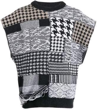 Cmmn Swdn patchwork print jumper