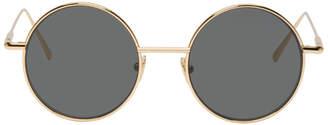 Acne Studios Gold and Black Scientist Sunglasses