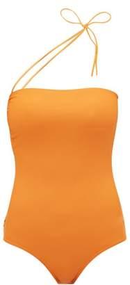 Jacquemus Alassio One Shoulder Swimsuit - Womens - Orange